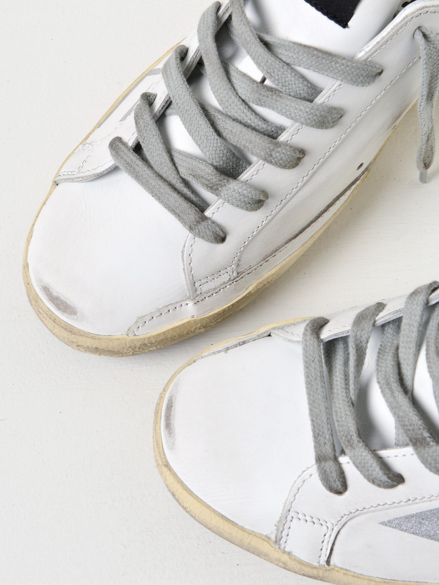 1ed57971c19 Lyst - Golden Goose Deluxe Brand Sneakers Superstar  white Leather Silver  Glitter in Metallic for Men