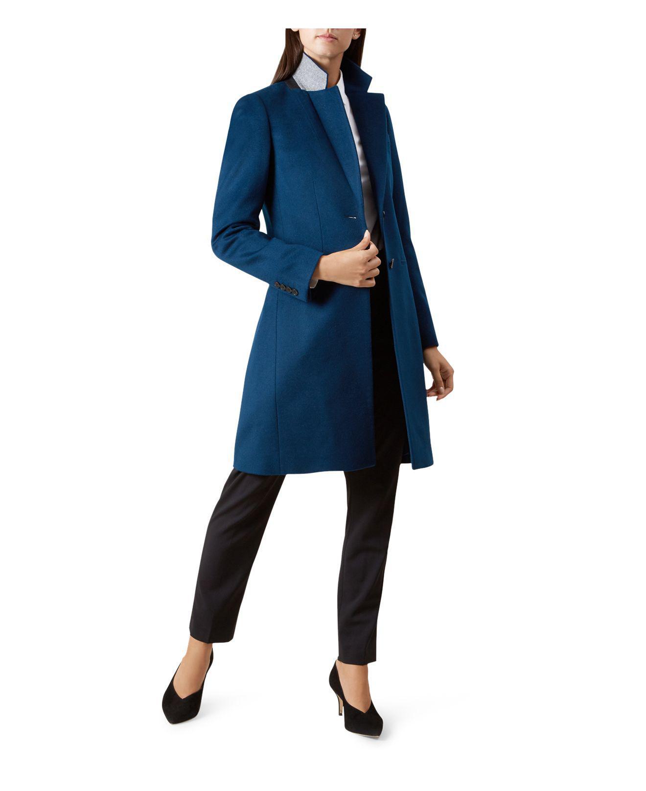 Lyst - Hobbs Tilda Wool Coat in Blue fd00cb5b2