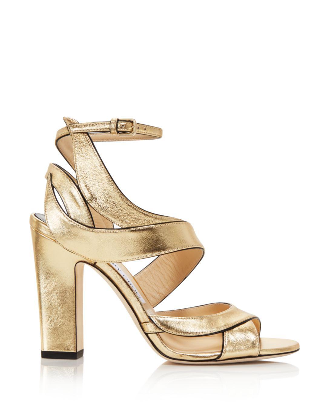 9da3a06e892 Lyst - Jimmy Choo Women s Falcon 100 Leather High-heel Sandals in ...