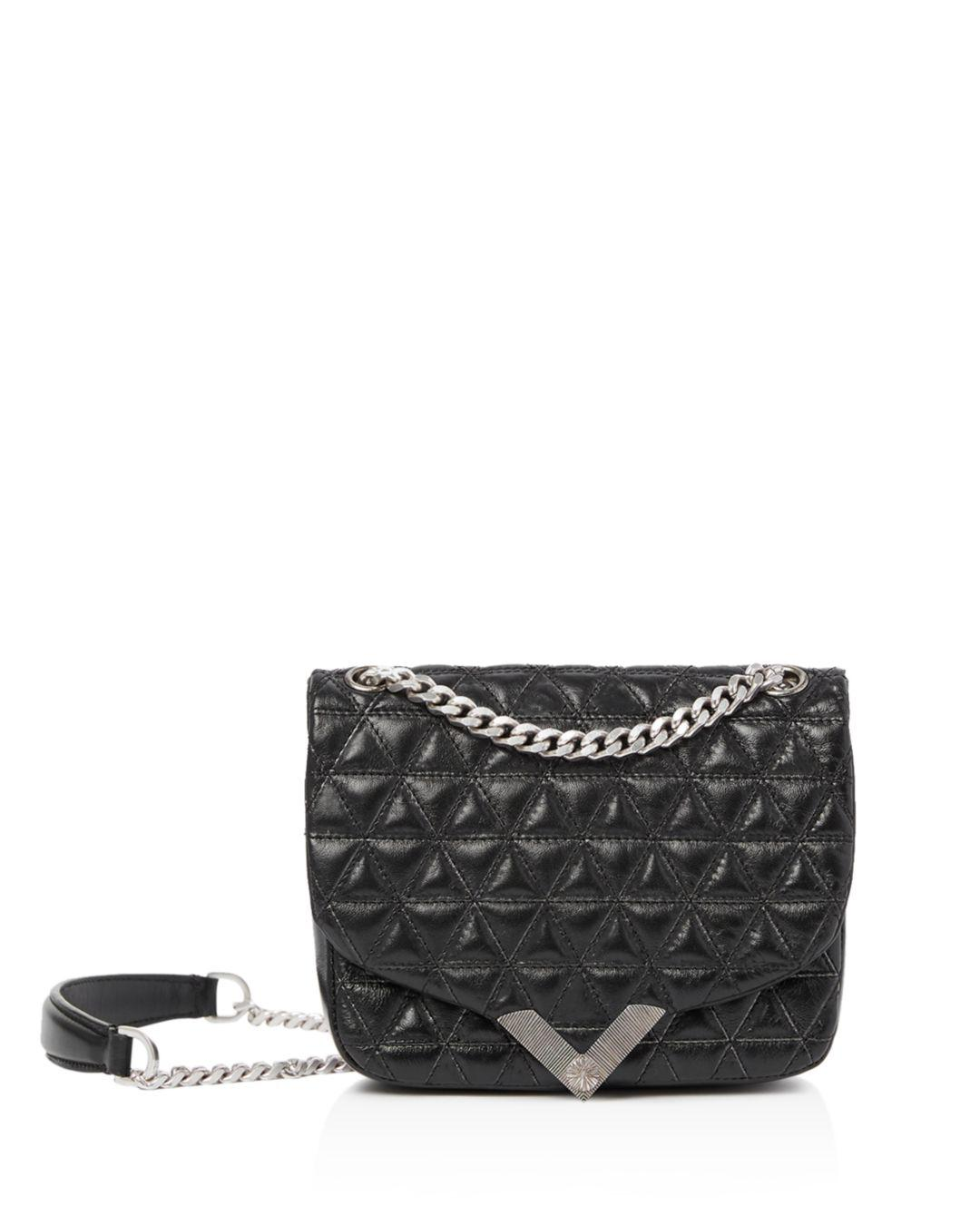 340db4d3a3 Lyst - The Kooples Stella Mini Quilted Leather Shoulder Bag in Black