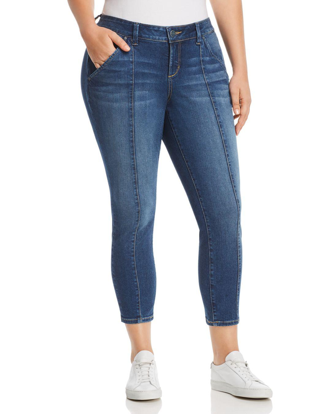 5e57c4e15b Lyst - Slink Jeans Plus Seamed Cropped Jeans In Francis in Blue