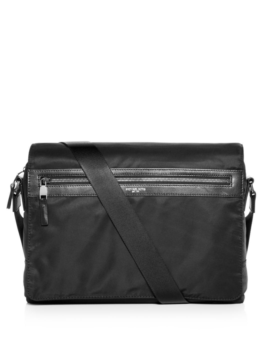d983ab876c3c Lyst - Michael Kors Kent Nylon Messenger Bag in Black for Men