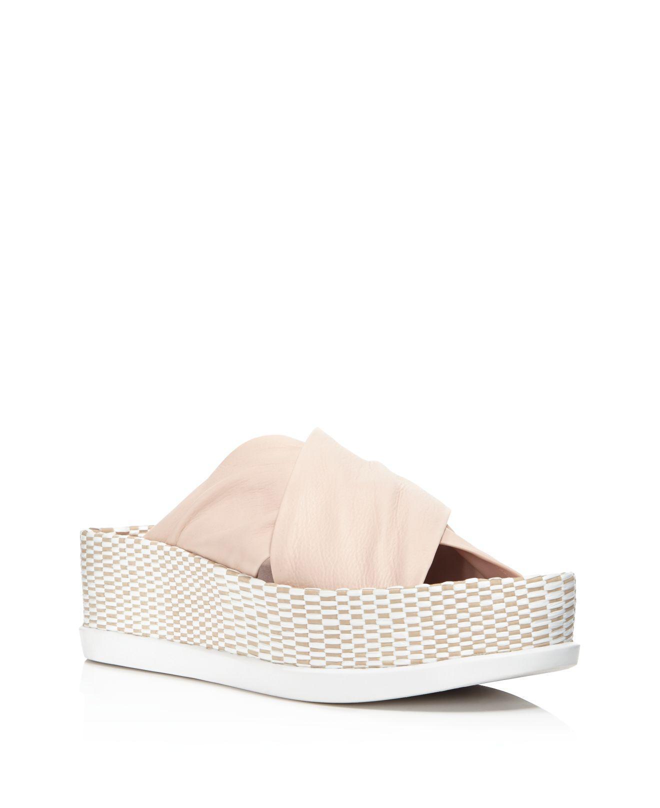 7d17ab6ec Sigerson Morrison Women's Hana Leather & Woven Platform Slide ...