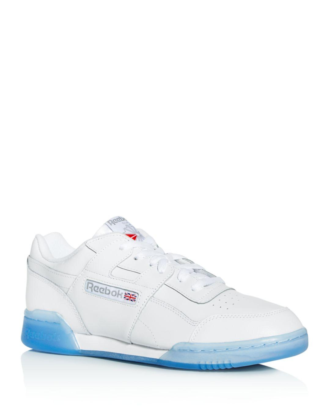 410c6486f9745 Reebok - White Men s Workout Plus Leather Low-top Sneakers for Men - Lyst.  View fullscreen