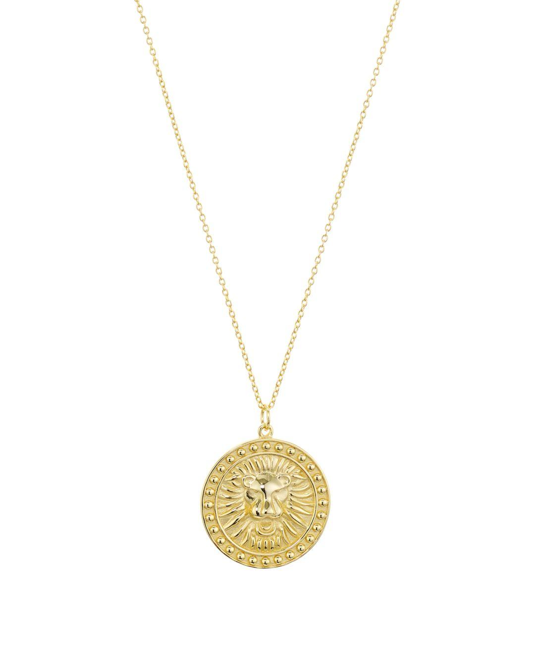 2881bb13760 Argento Vivo Lioness Medallion Pendant Necklace In 18k Gold - Plated ...