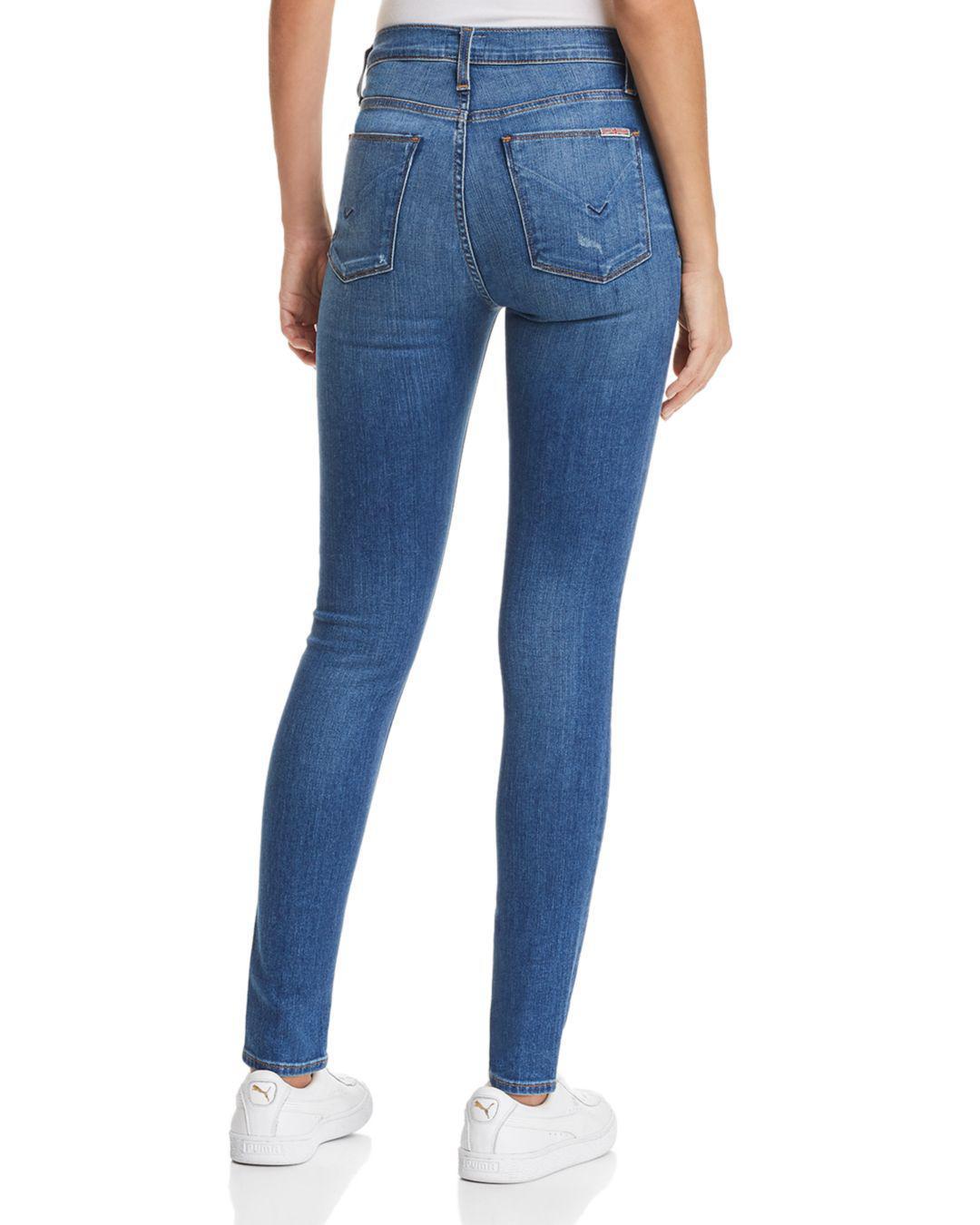 047151a6335 Hudson Jeans Barbara High Rise Super Skinny Jeans In Ultralight ...