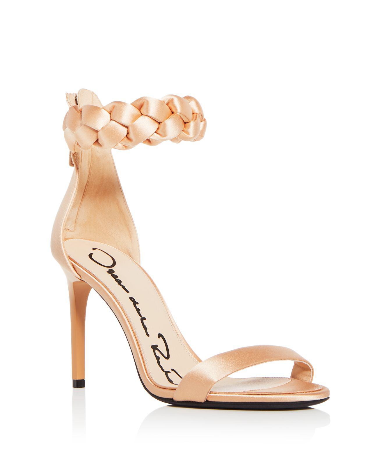 Oscar de la Renta Women's Brigit Braided Satin Ankle Strap High-Heel Sandals ereaRZ1a