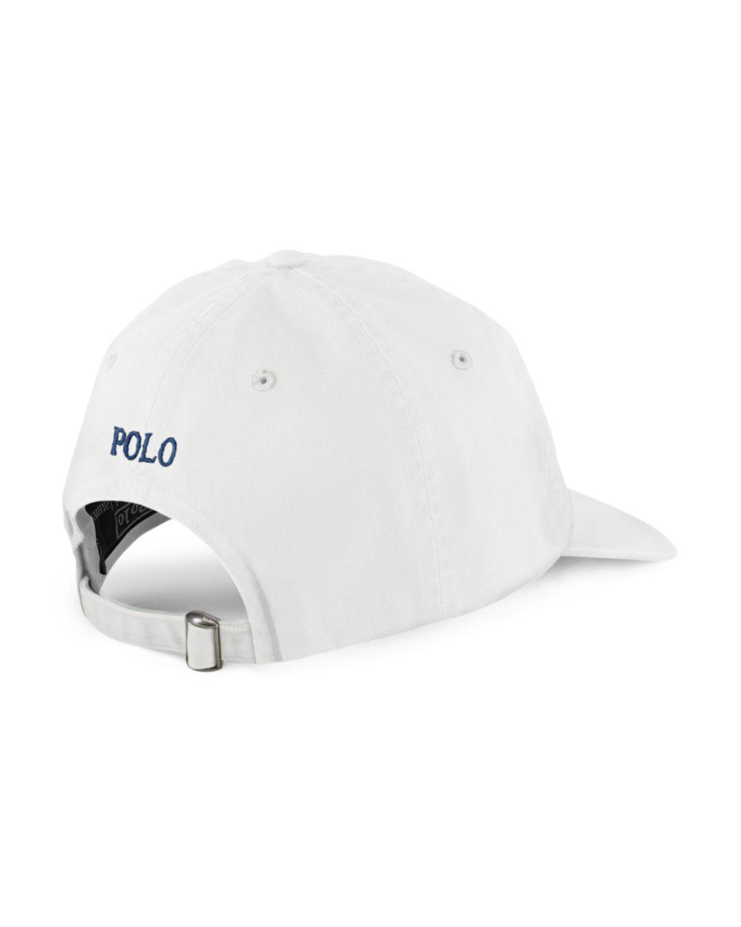 d14a9d511db Lyst - Polo Ralph Lauren Signature Pony Hat in White for Men - Save 33%