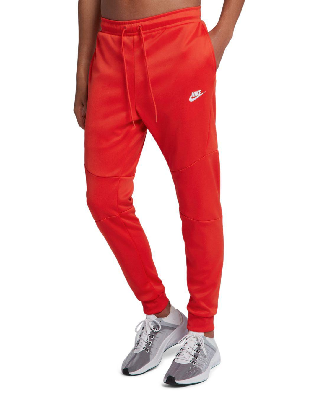 c25175e9b62f Lyst - Nike Icon Tech Double-knit Jogger Pants in Red for Men