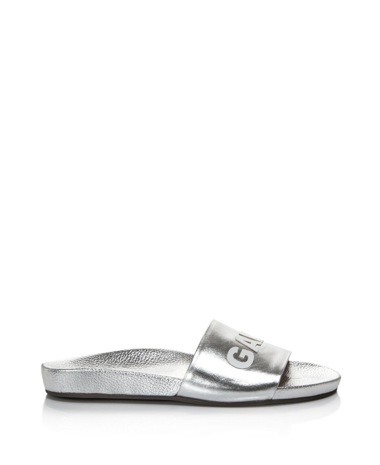 Schutz Women's Game Over Leather Pool Slide Sandals - 100% Exclusive Oa1WHDhh4b