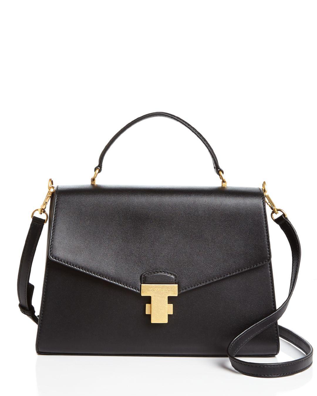 a7b4bae7431f Tory Burch. Women s Black Juliette Large Leather Satchel.  558 From  Bloomingdale s