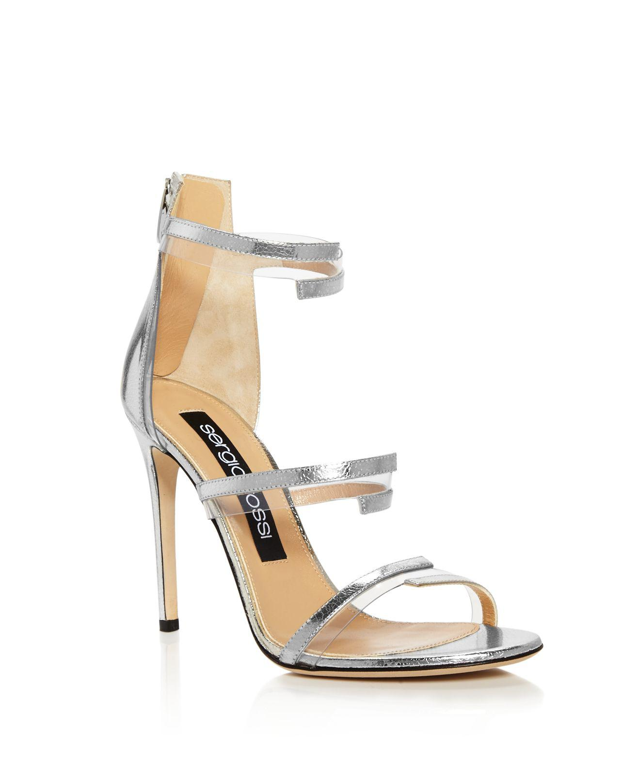 Sergio Rossi Karen Triple Strap Illusion High-Heel Sandals QiB9AIaOKE
