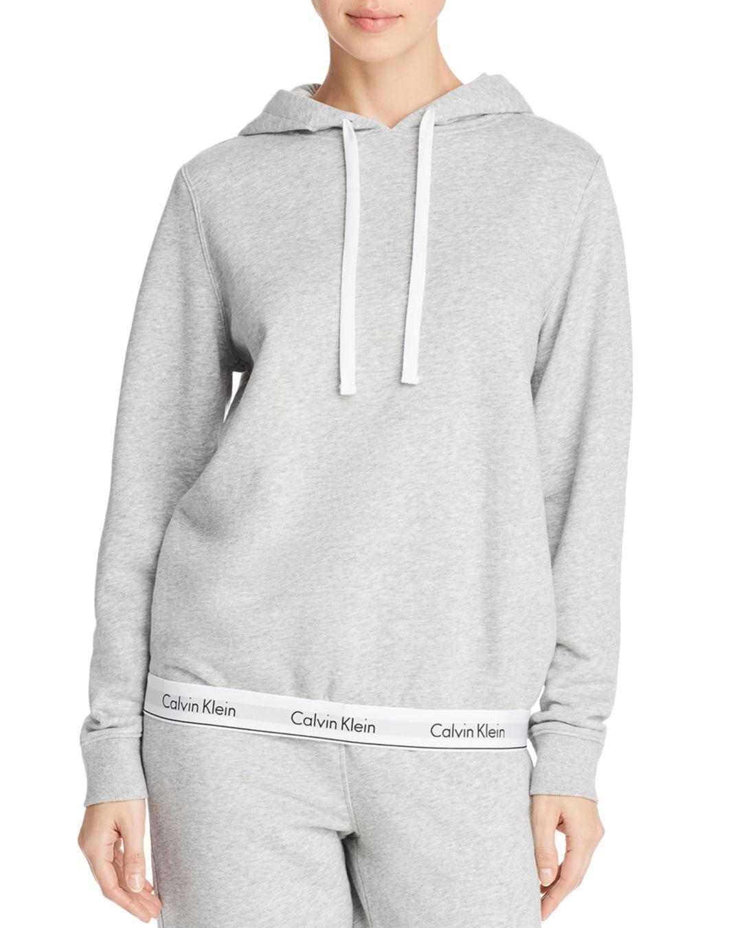 94d2ff79557c5 Lyst - Calvin Klein Modern Cotton Lounge Hoodie in Gray