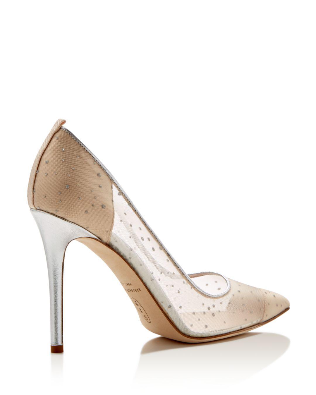 95ca9d5c1b5 Lyst - SJP by Sarah Jessica Parker Glass Glitter Dot Pointed Toe High-heel  Pumps in Metallic