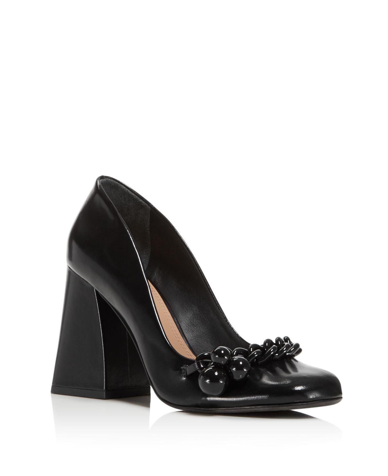 9a01bd3ce2df4 Lyst - Tory Burch Addison High Block Heel Pumps in Black