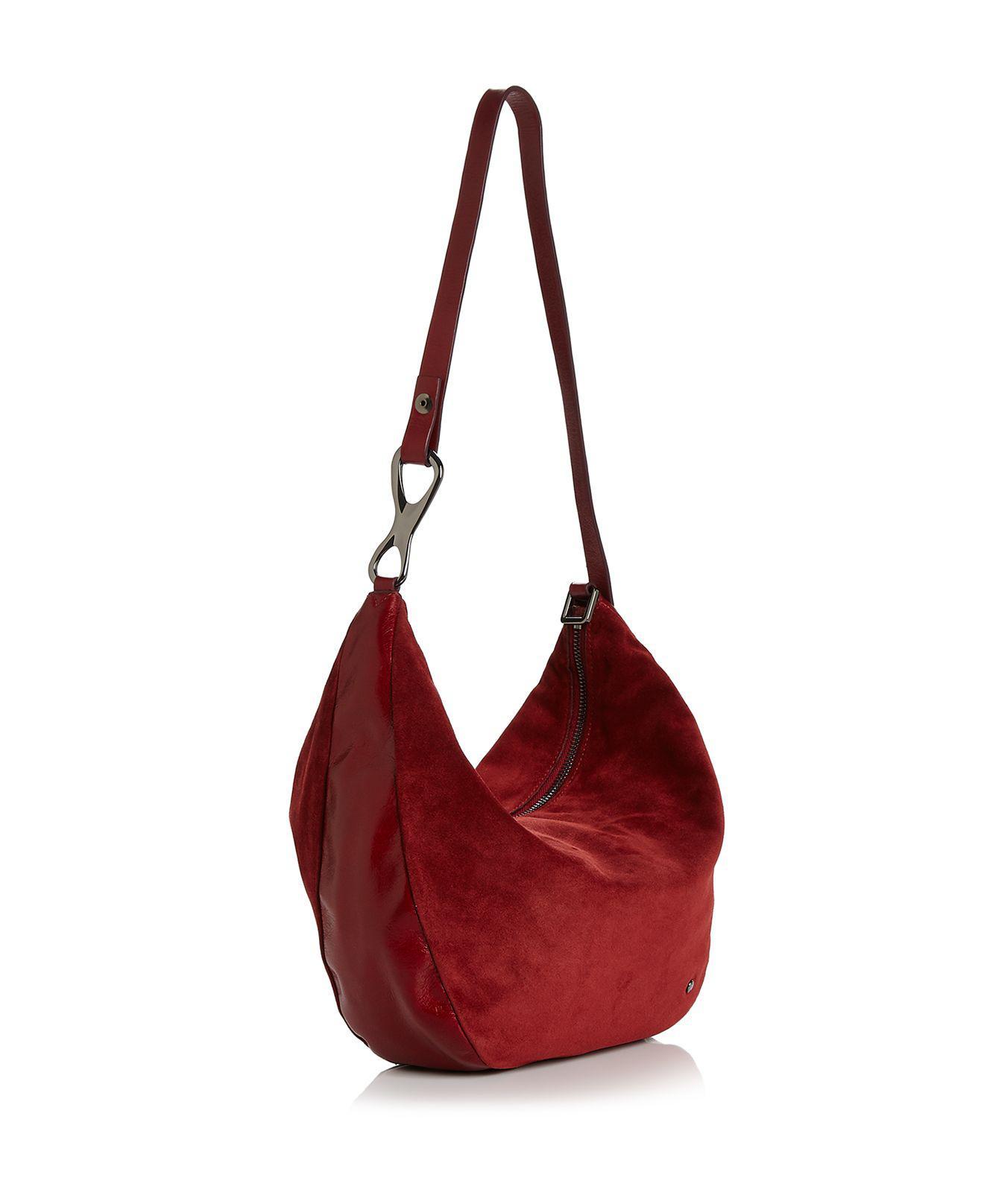 227bd77b03 Lyst - Halston Elsa Three-way Convertible Suede   Leather Shoulder Bag