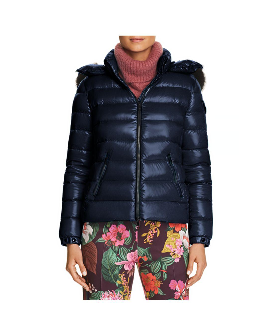 98c78e961 Lyst - Moncler Bady Fur Jacket in Blue