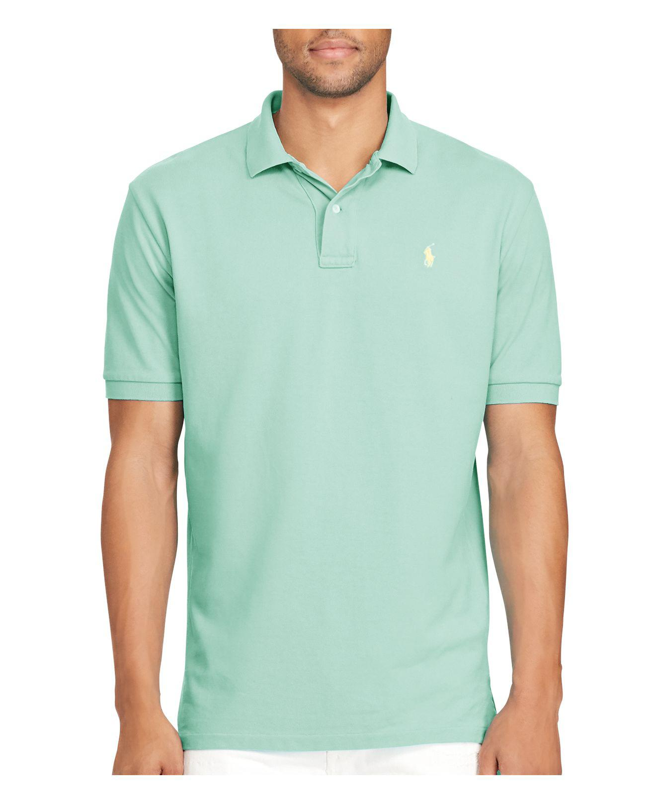 14794d96 Lyst - Polo Ralph Lauren Custom Fit Weathered Mesh Polo in Green for Men
