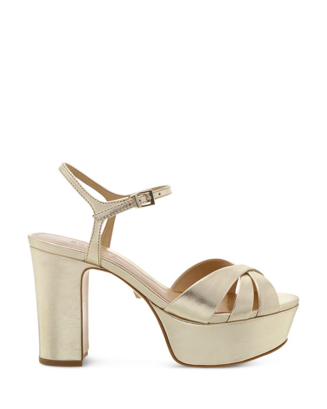 c91d2abb1383 Lyst - Schutz Women s Keefa High-heel Platform Sandals in Metallic