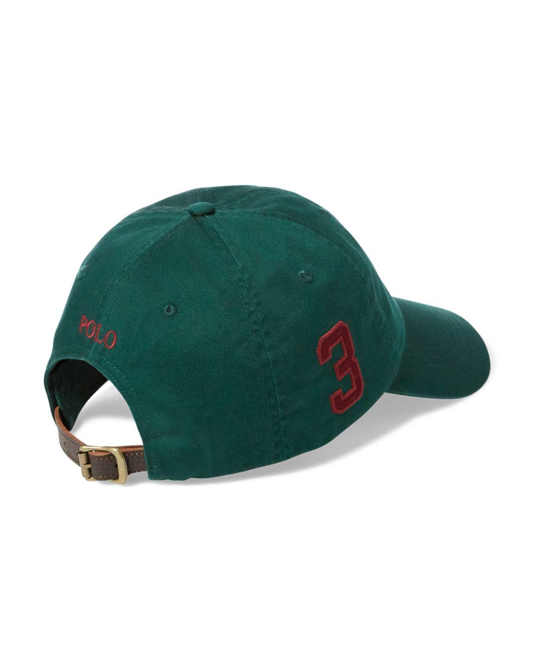 ... Lyst - Polo Ralph Lauren Polo Logo Chino Baseball Cap in Green for Men  buying now ... ef9db9d69c80