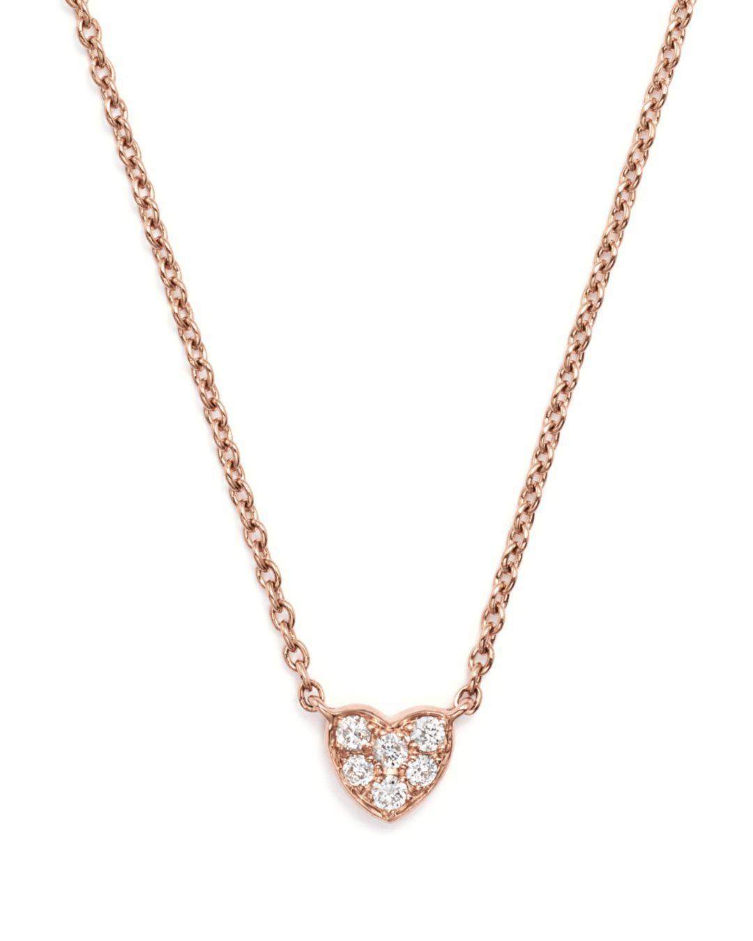 89ebf91eff8d Bloomingdale's - Multicolor Mini Diamond Heart Pendant Necklace In 14k Rose  Gold, .07 Ct. View fullscreen