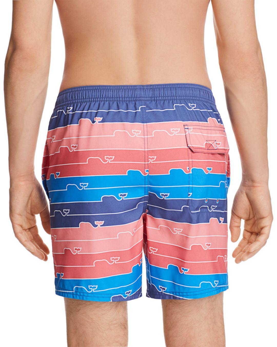 51d262dd53 Lyst - Vineyard Vines Whale Line Chappy Swim Trunks in Blue for Men