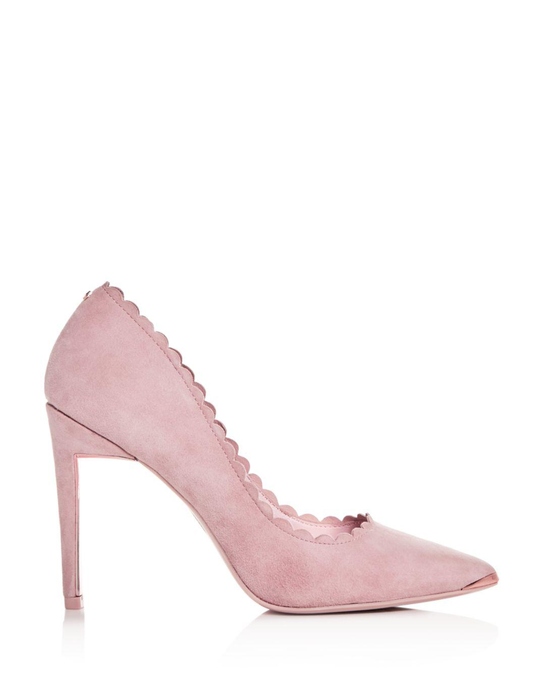 ae00cd70e Lyst - Ted Baker Women s Sloana Scalloped Pointed-toe Pumps in Pink - Save  40%
