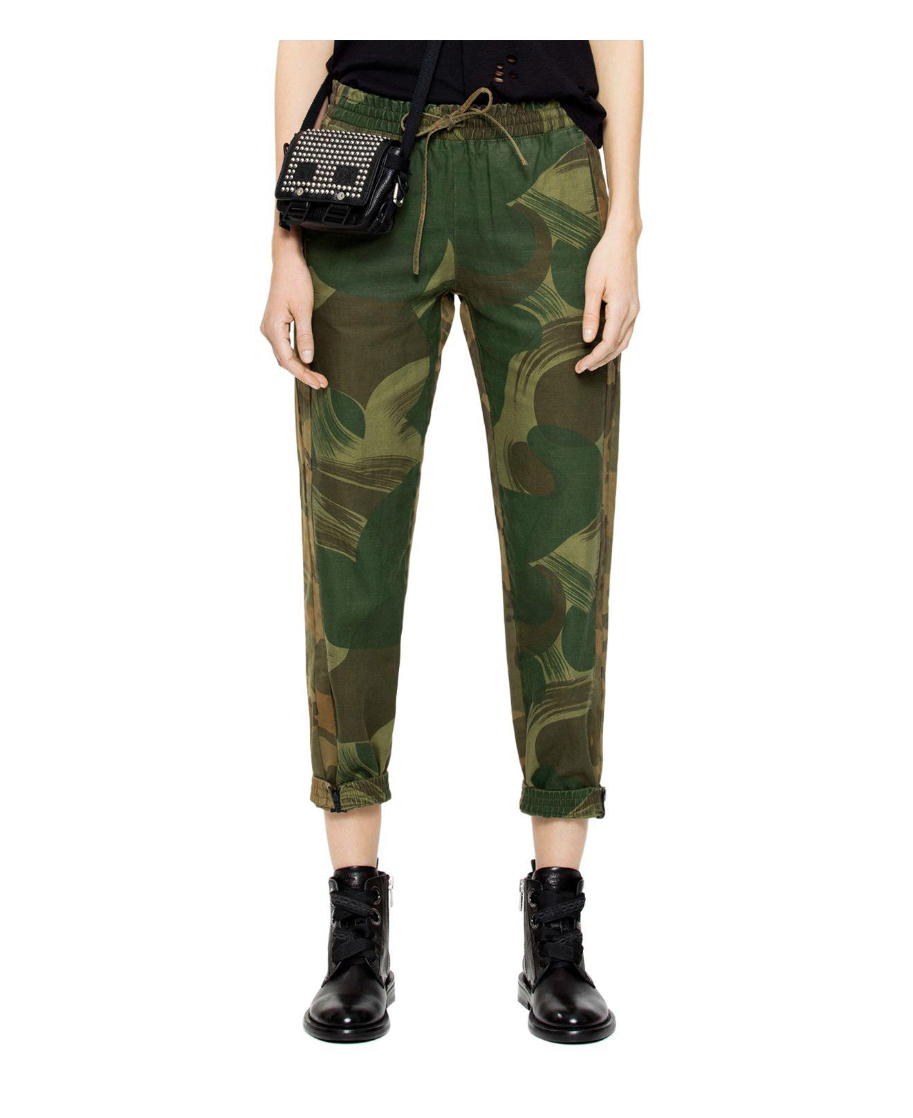 camouflage fitted trousers - Green Zadig & Voltaire X2FkDEisS