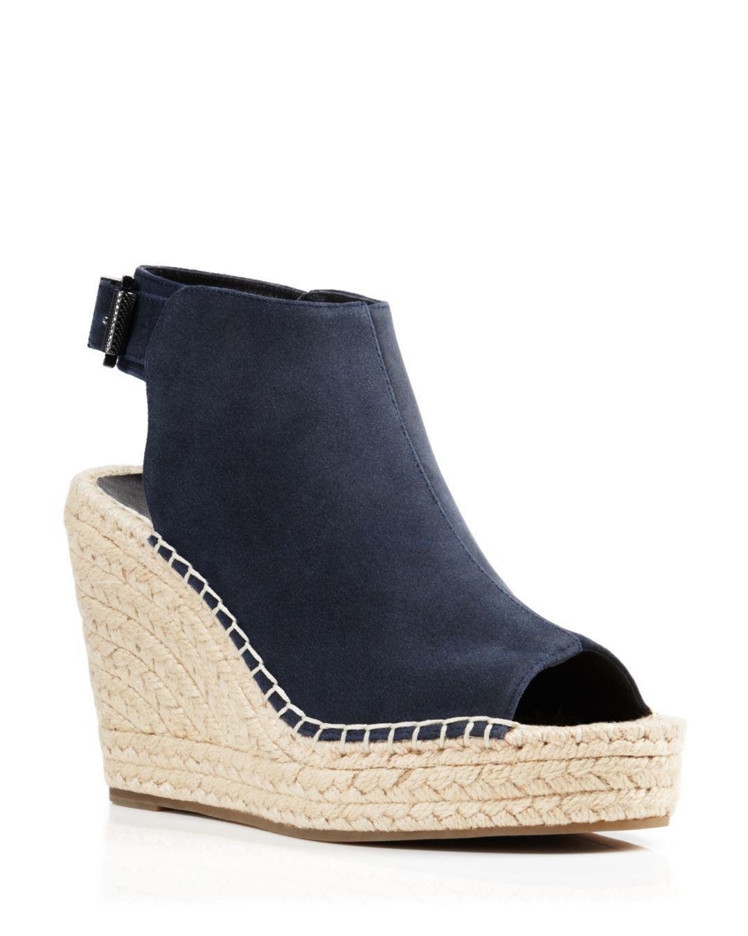 d2479ef6a51a Kenneth Cole. Women s Blue Olivia Suede Espadrille Wedge Platform Sandals
