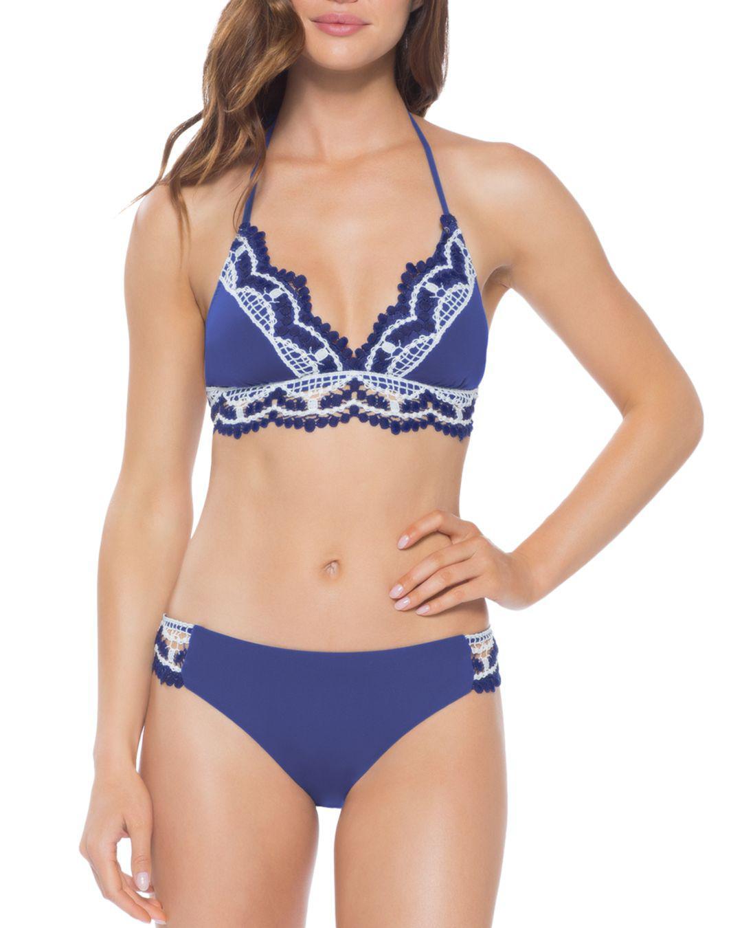 48280ad71c Lyst - Becca Delilah Halter Bikini Top in Blue