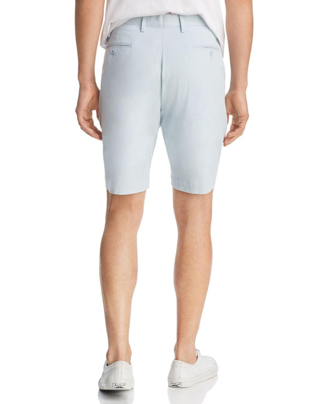 b72eb55e87e1 Bloomingdale s Twill Regular Fit Shorts in Blue for Men - Lyst