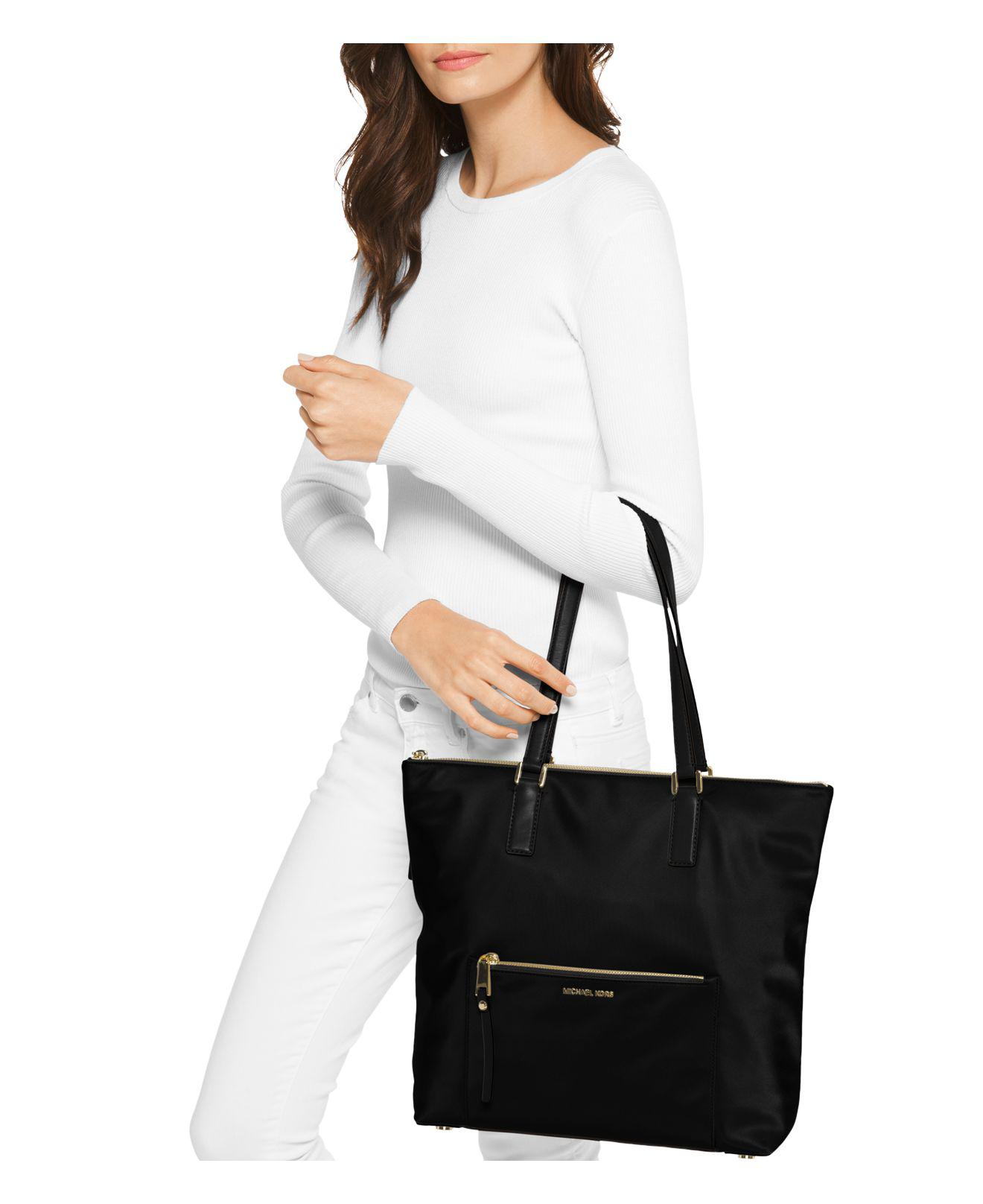 a1257f5c7390 Lyst - MICHAEL Michael Kors Ariana Large Nylon Tote in Blue