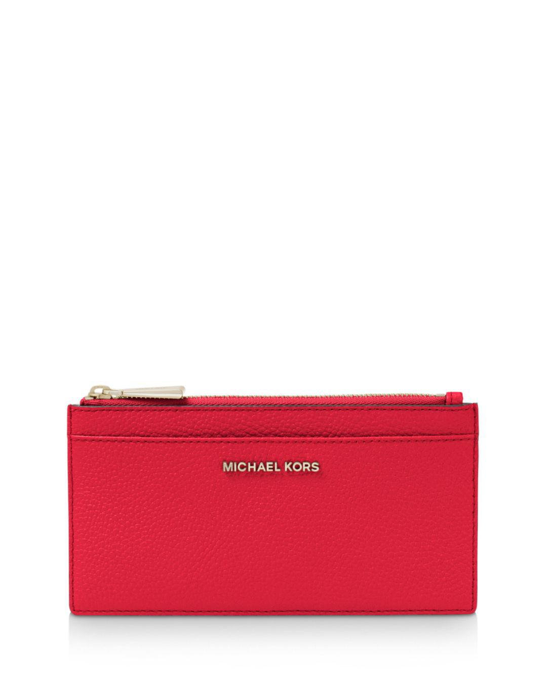 026f4d8aa641 Michael Michael Kors Money Pieces Large Slim Leather Card Case in ...