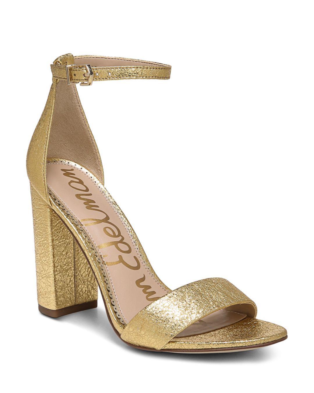089f18a484a9 Lyst - Sam Edelman Women s Yaro Ankle Strap Block Heel Sandals in ...