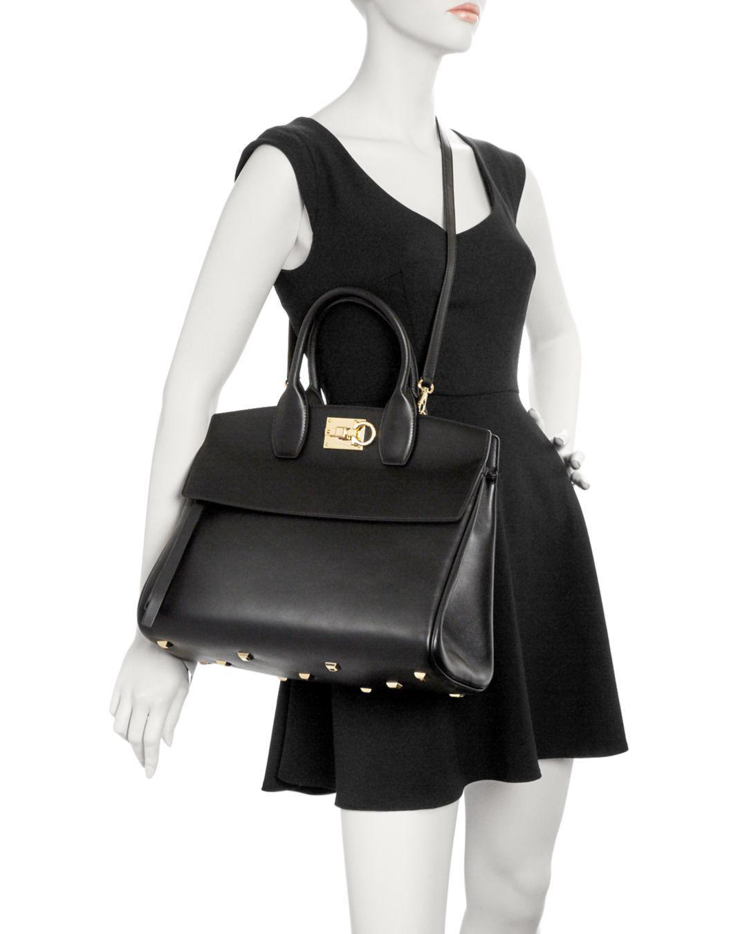 7c62909b0991 Lyst - Ferragamo Medium Studio Bag in Black - Save 8%