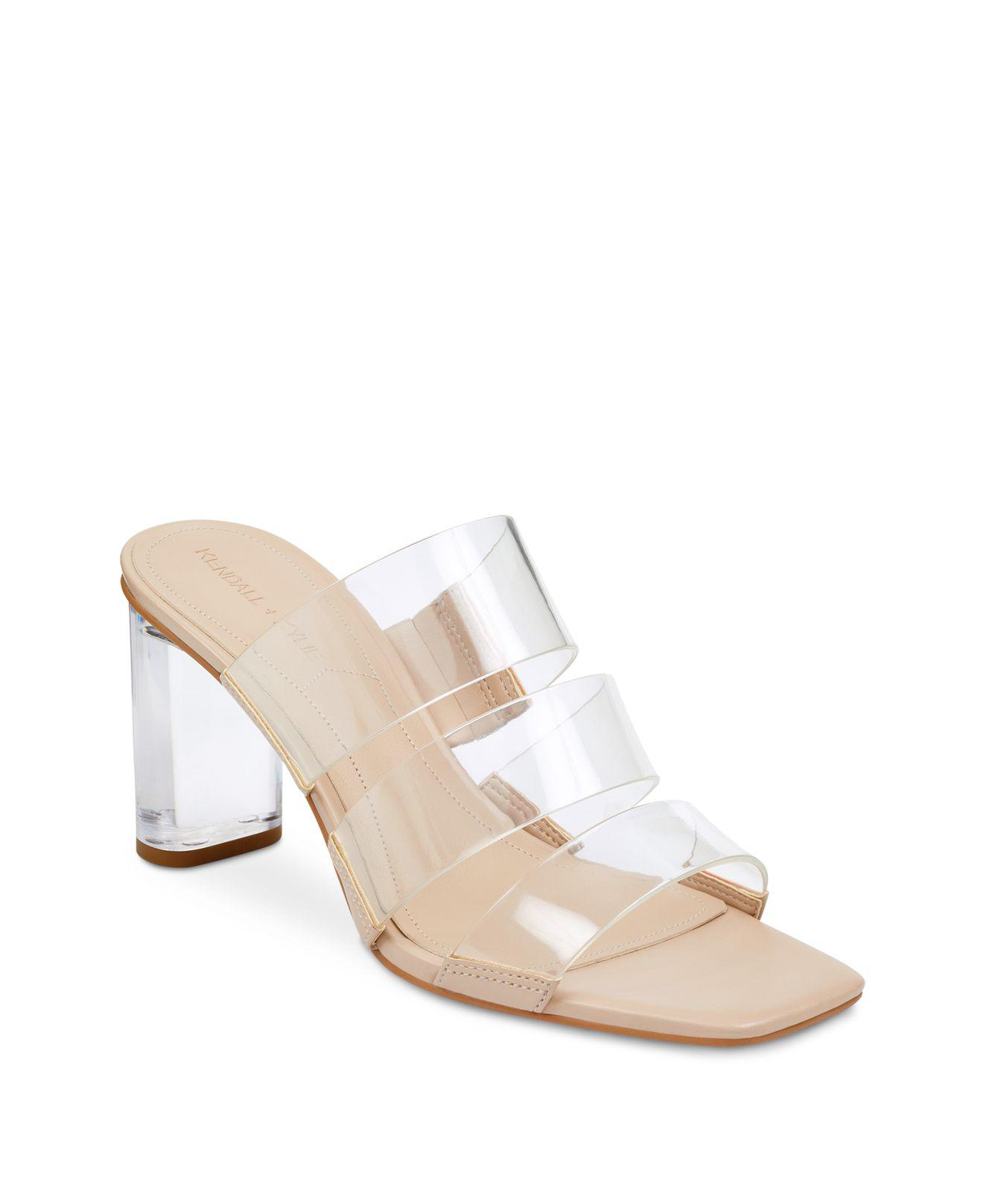 Kendall And Kylie Women's Leila2 Lucite Block Heel Sandals SB3BAd