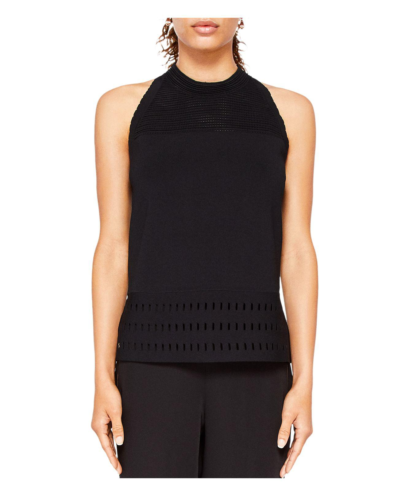 f74cd562f Lyst - Ted Baker Georji Ottoman Knit Top in Black