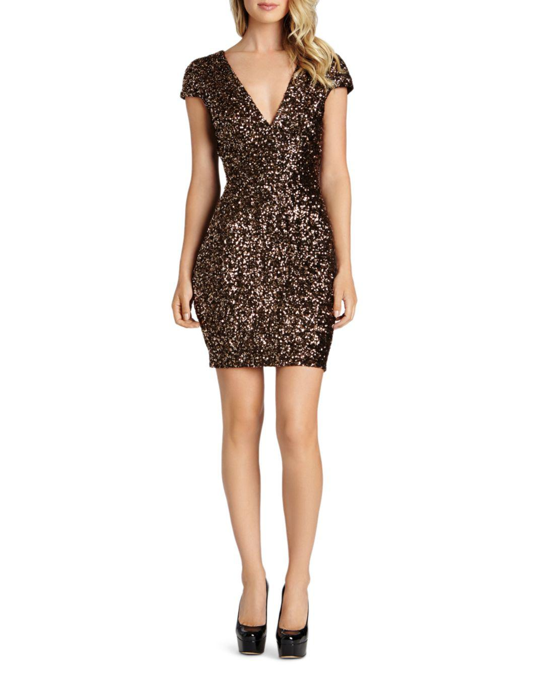 f2a6ed4b1a633 Dress the Population. Women s Zoe Sequined Mini Dress