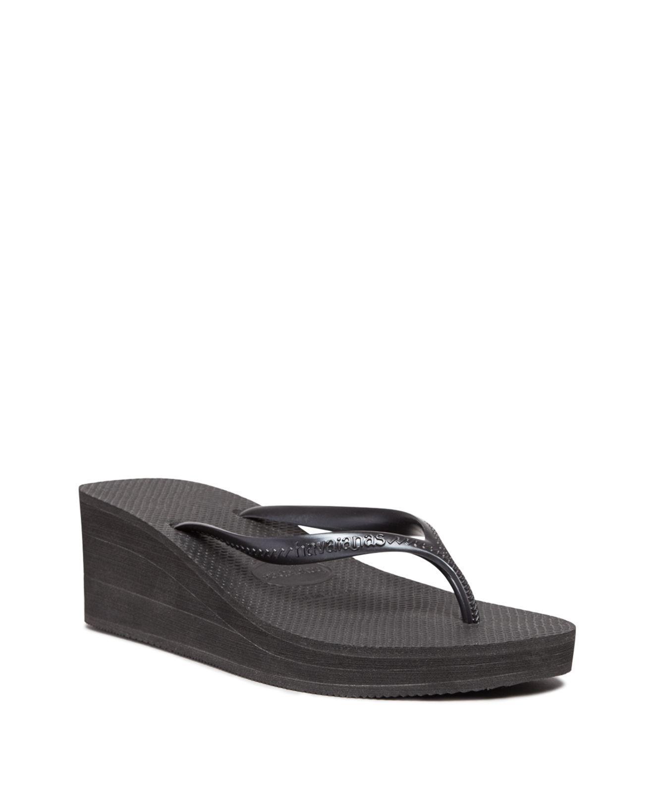 Havaianas Platform Wedge Flip-Flops - High Fashion In Black  Lyst-3530