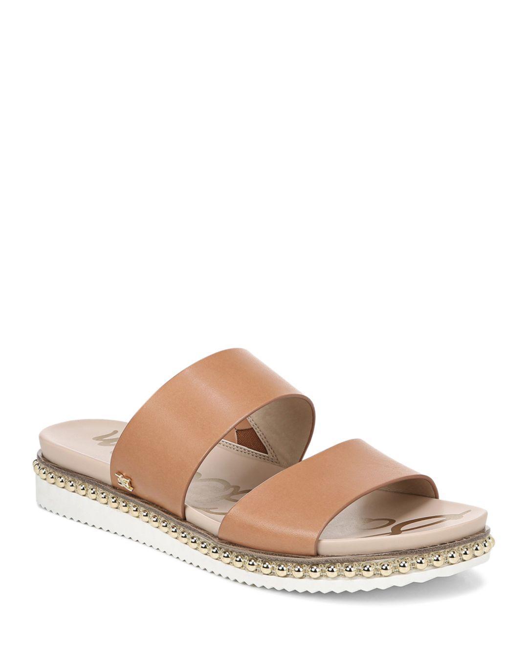 f5055dd77d0cee Lyst - Sam Edelman Women s Asha Studded Leather Slide Sandals