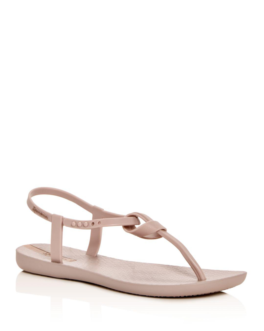 273995865bed Ipanema Ellie Knot T-strap Sandals in Natural - Save 40% - Lyst