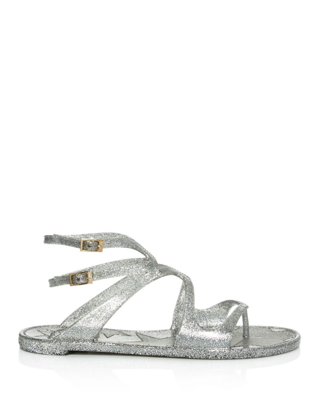 6dd28ef0b171 Jimmy Choo - Metallic Lance Jelly Glitter Sandals - Lyst. View fullscreen