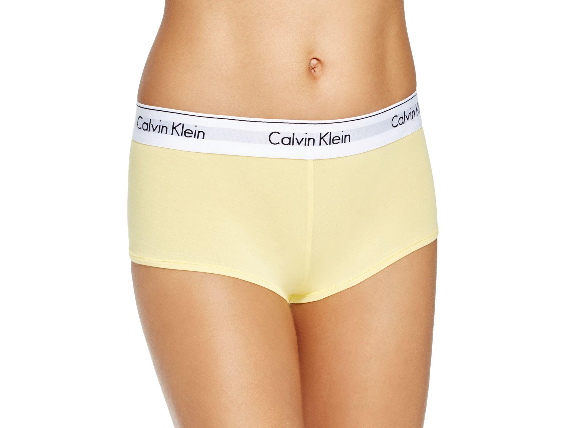 812417ae5f Lyst - Calvin Klein Boyshort - Modern Cotton  f3788 in Yellow