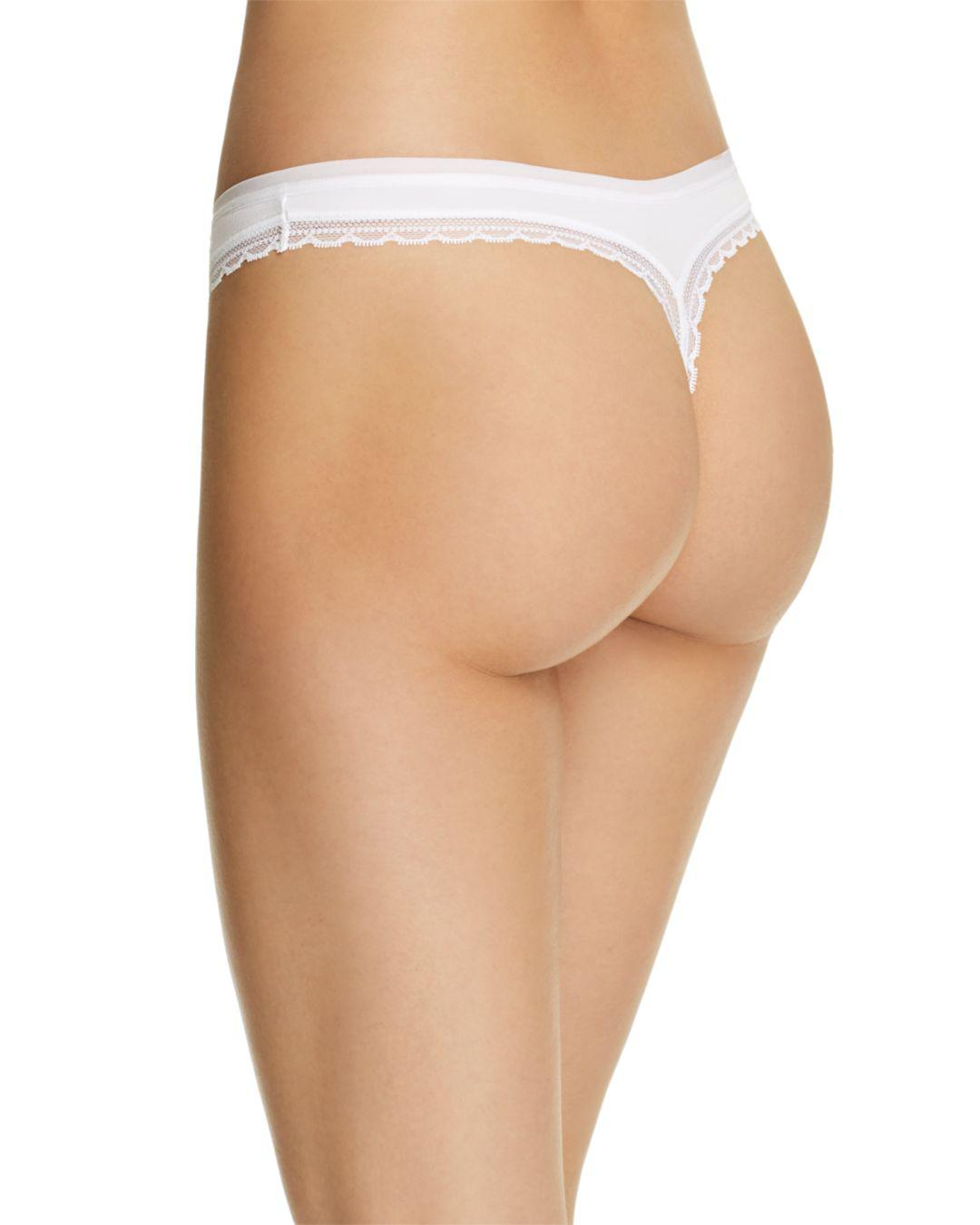 d5a973283ae7 On Gossamer Cabana Cotton Hip G-string in White - Lyst