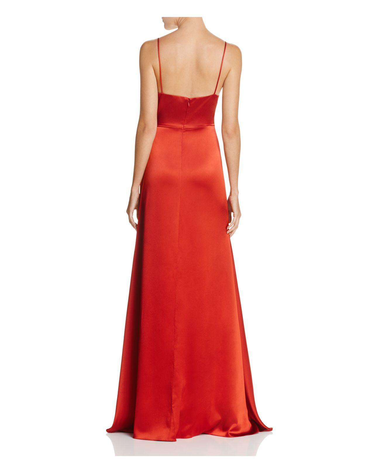 Jill Jill Stuart Satin Wrap Slip Dress In Red Lyst