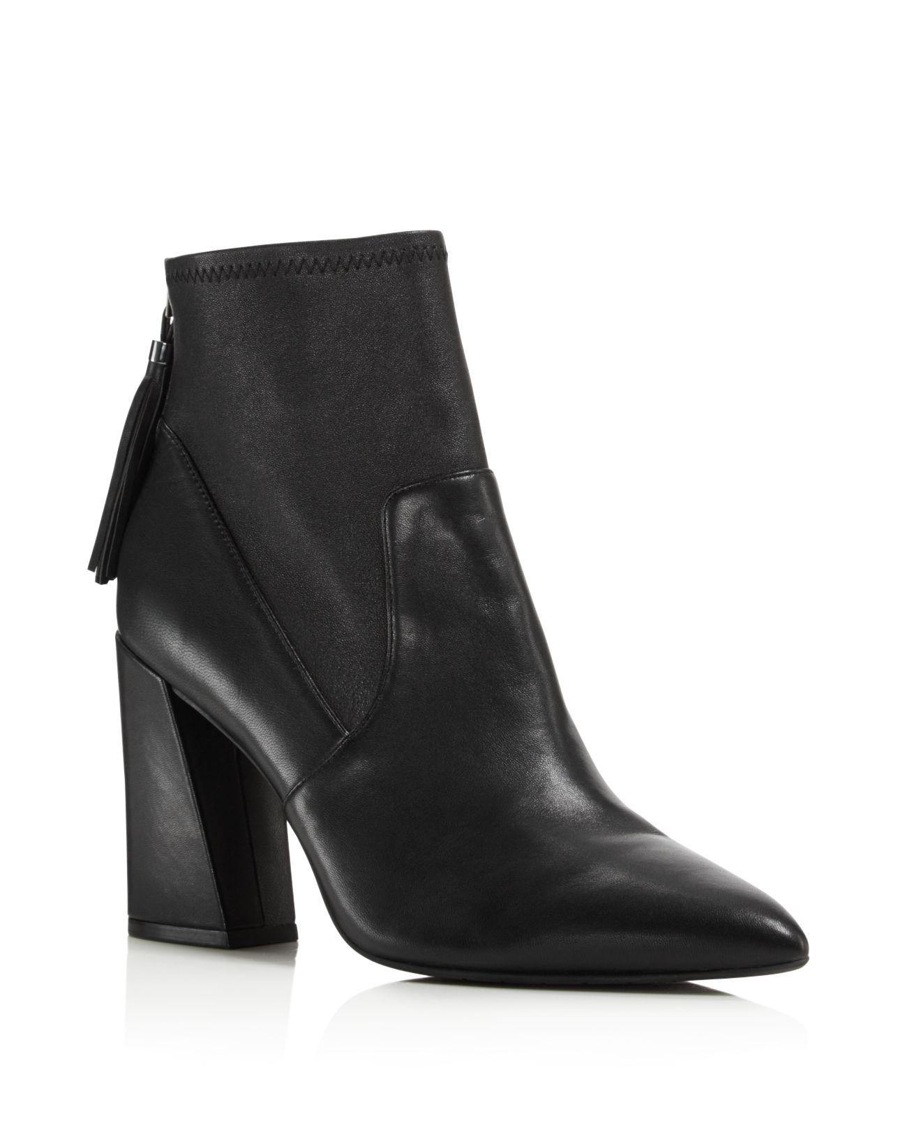 Kenneth Cole. Women's Black Gracelyn Leather High Heel Booties