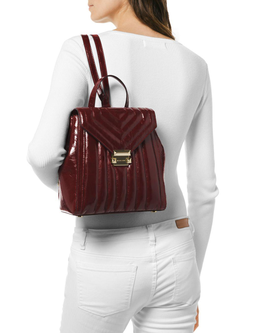 bc4c1088edd037 MICHAEL Michael Kors Whitney Medium Leather Backpack in Red - Lyst