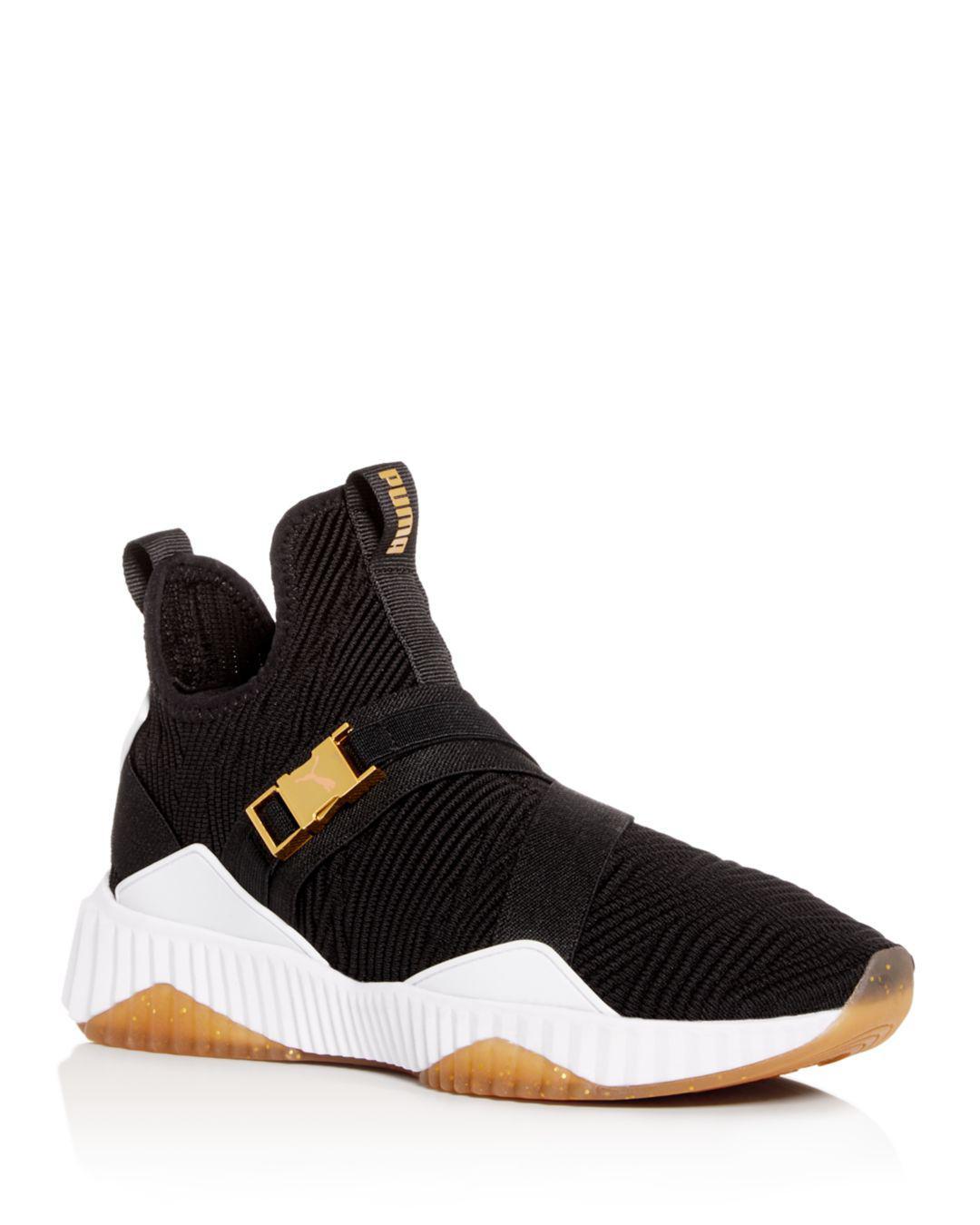 a3e4d5c4677655 PUMA Defy Mid Sneaker in Black - Lyst
