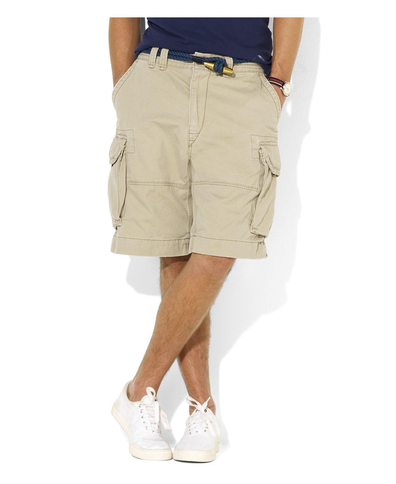 Polo ralph lauren Gellar Classic Cargo Shorts in Brown for Men | Lyst