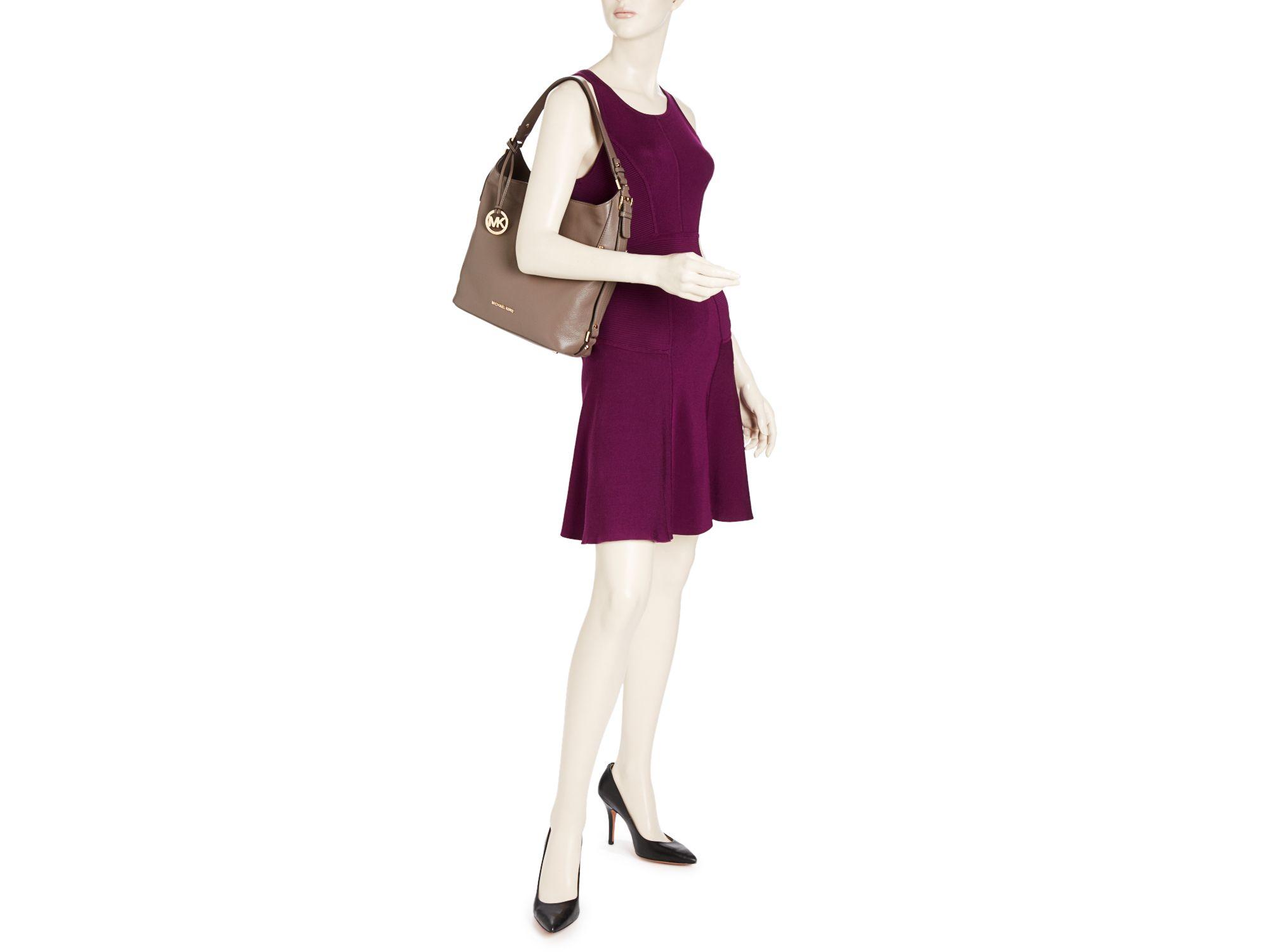 878ea93d8f90 MICHAEL Michael Kors Bedford Large Belted Shoulder Bag in Black - Lyst
